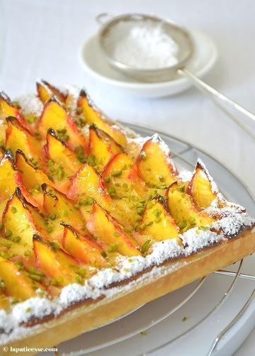 Rezept Pfirsich-Blätterteigtarte