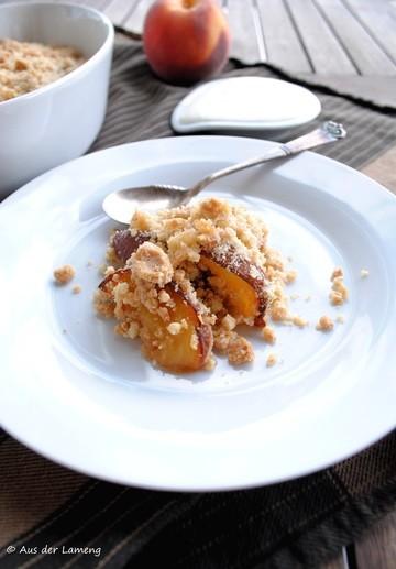 Rezept Pfirsich-Mandel-Crumble