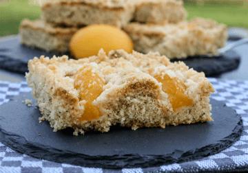 Rezept Pfirsich Streuselkuchen