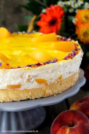 Rezept Pfirsich-Vanille-Torte
