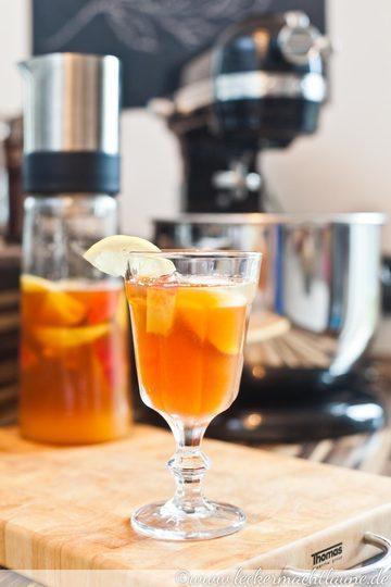 Rezept Pfirsich-Zitronen-Eistee