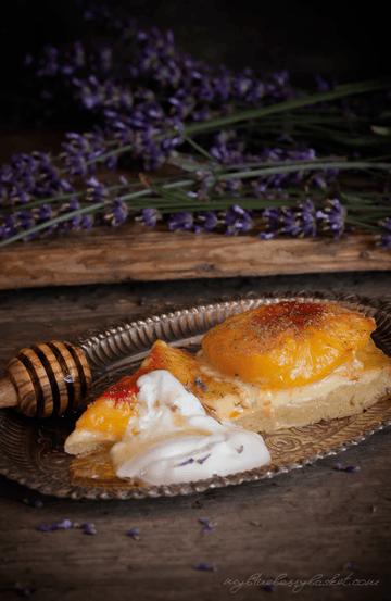 Rezept Pfirsichtarte mit Lavendel