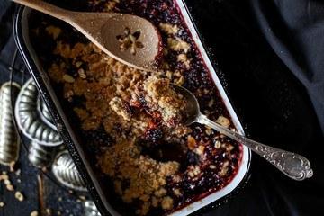 Rezept Pflaumen-Crumble mit Quinoa
