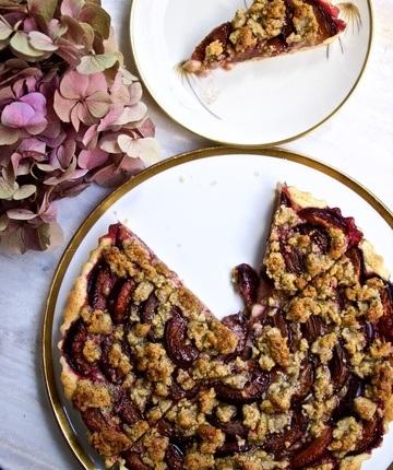 Rezept Pflaumenkuchen mit Walnuss-Rosmarin-Streuseln