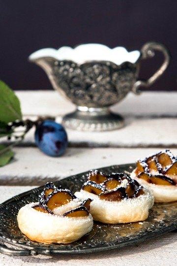 Rezept Pflaumenrosen Blätterteig