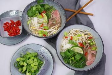 Rezept Pho Bo - vietnamesische Nudelsuppe mit Rindfleisch