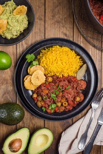 Rezept Picadillo con arroz amarillo cubano