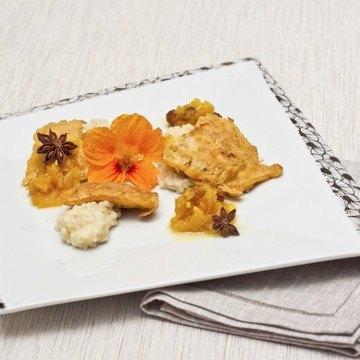 Rezept Piccata mit Wasabirisotto und Tomatenchutney