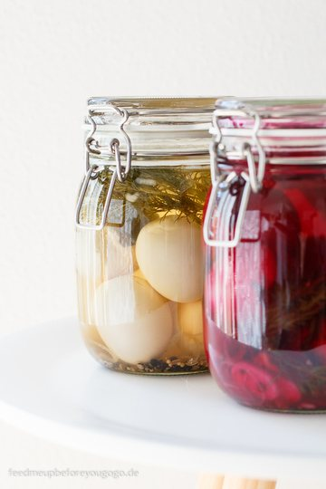Rezept Pickled Eggs: Zweierlei eingelegte Eier