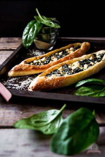 Rezept Pide mit Blattspinat und Feta