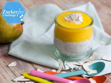 Rezept Pina Colada Pudding mit Kokosmilch