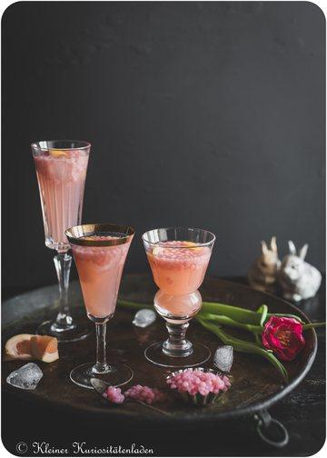 Rezept Pink Grapefruit Bubble Mimosa