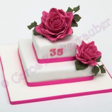 Rezept Pinke Rose zum Geburtstag
