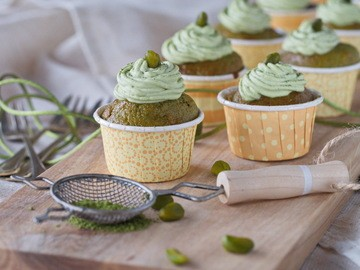 Rezept Pistazien-Matcha-Cupcakes