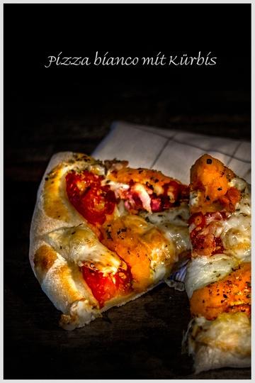 Rezept Pizza bianco mit Kürbis
