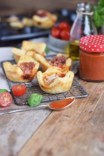 Rezept Pizza Blätterteig Muffins
