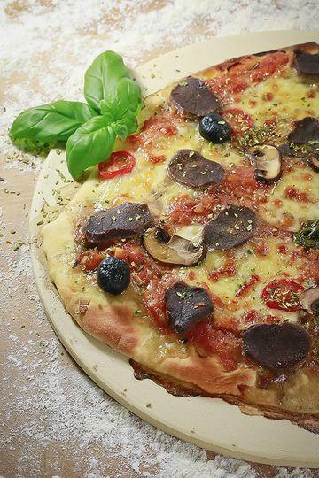 Rezept Pizza mit Rehrücken