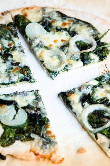 Rezept PIZZA MIT SPINAT UND GORGONZOLA