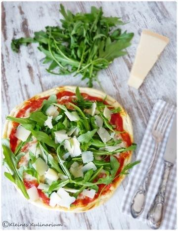 Rezept Pizza Rucola e Parmigiano