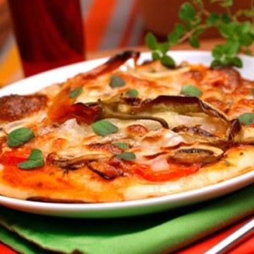 Rezept Pizza Speck e Funghi