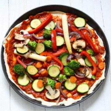 Rezept Pizza Vegetaria mit Spargel