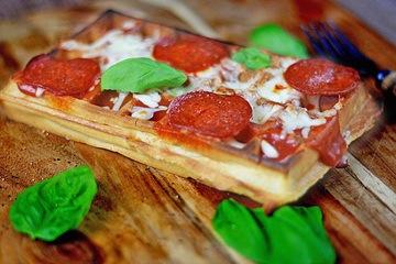 Rezept Pizza Waffeln