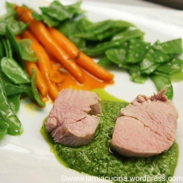 Rezept Pochiertes Kalbsfilet an Salsa verde