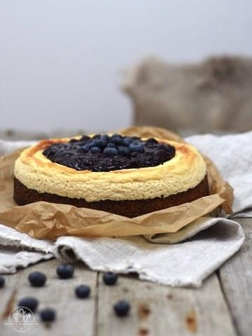 Rezept Polenta-Heidelbeer-Cheesecake