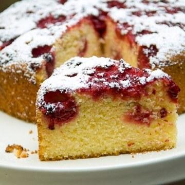 Rezept Polenta-Kuchen mit Himbeeren und Zitrone