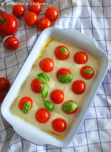 Rezept Polenta mit Kirschtomaten und Mozzarella