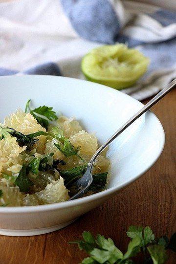 Rezept Pomelosalat mit Kokos und Zitronengras