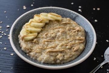 Rezept Porridge mit Banane und Cashewmus