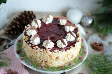 Rezept Preiselbeer-Nougat-Torte