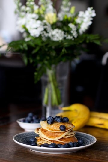 Rezept Protein Pfannkuchen Whey mit Banane