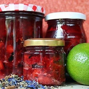 Rezept Provenceblüten-Erdbeer-Marmelade