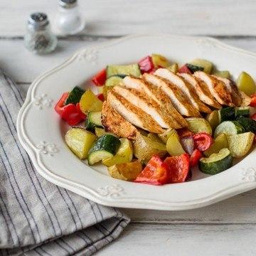 Rezept Provenzalisches Hähnchen auf Grillgemüse
