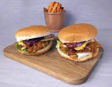 Rezept Pulled Jackfruit Burger (vegan)