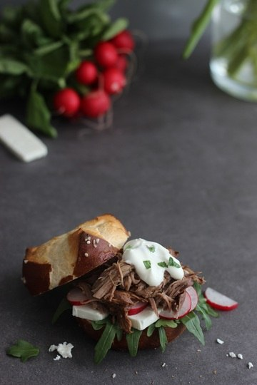 Rezept Pulled Lamb Burger