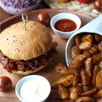 Rezept Pulled Pork BBQ Burger