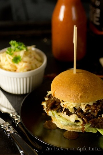 Rezept Pulled-Pork-Burger mit Cole-Slaw