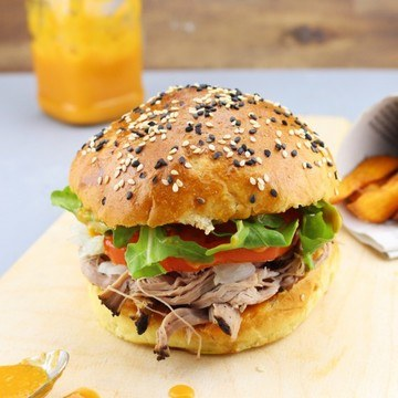 Rezept Pulled Pork Burger