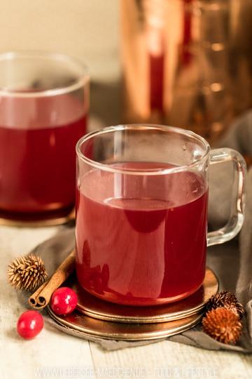 Rezept Punsch mit Cranberry und Birne