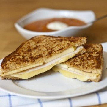 Rezept Pute und Apfel Grilled Cheese