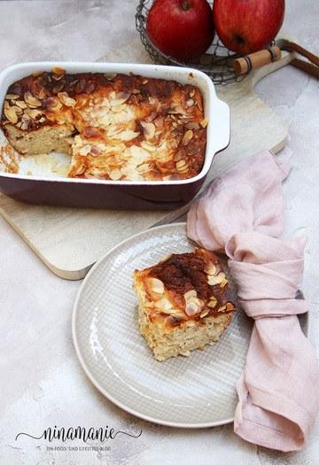 Rezept Quark-Apfel-Auflauf mit Mandeln und Honig