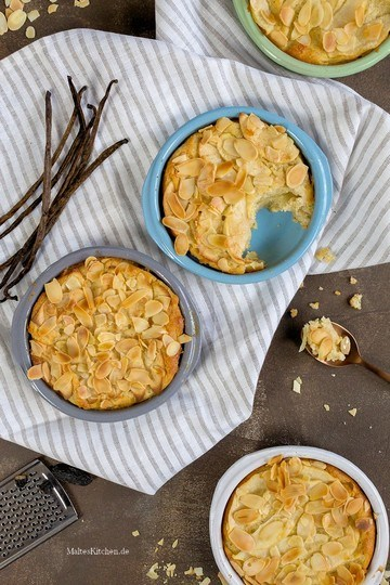 Rezept Quark-Auflauf mit Griess, Äpfeln & Mandelblättchen