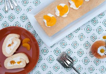 Rezept Quark-Mandarinen-Biskuitrolle