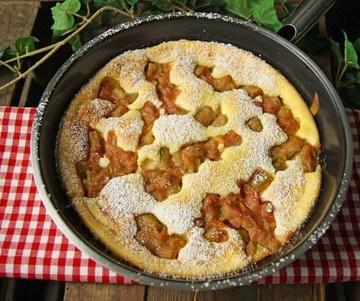 Rezept Quark-Rhabarber-Omelette