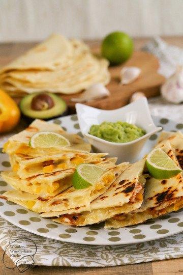 Rezept Quesadillas mit Huhn und Paprika