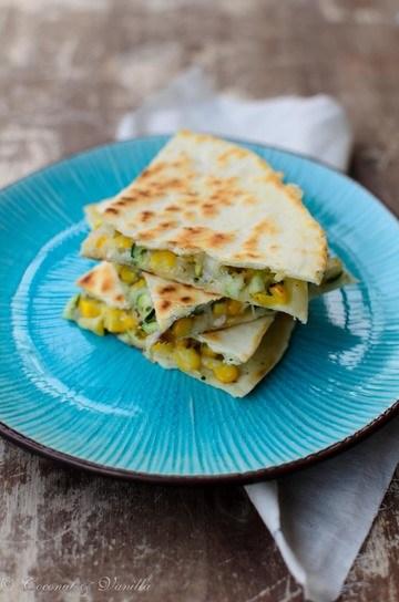 Rezept Quesadillas mit Zucchini und frischem Mais