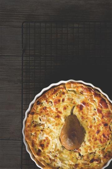 Rezept Quiche mit Kürbis, Lauch und Birnen